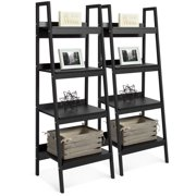 Best Choice Products Modern Wooden Ladder Bookcase (Set of 2)
