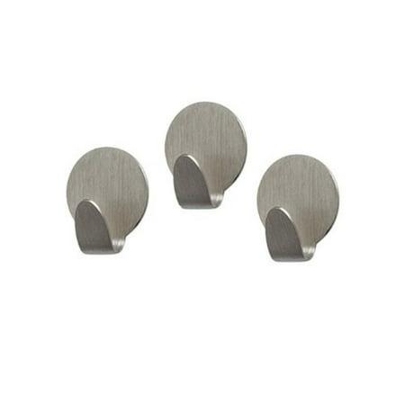 Spectrum Diversified Magnetic Medium Round Hooks, Set of 3, Brushed Nickel