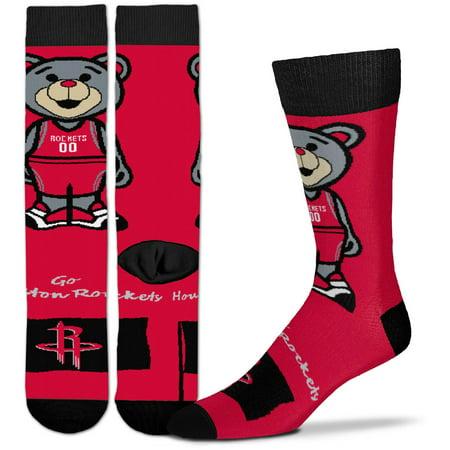 Houston Rockets For Bare Feet Youth Mascot Flag Crew Socks - No Size (Mascot Houston Pants)