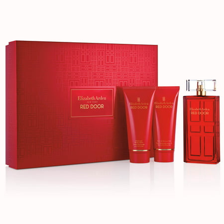 Elizabeth 5 Piece Place (Elizabeth Arden Red Door Perfume Gift Set for Women, 3 piece - 3.3 Oz Perfume + Body Lotion + Shower)