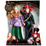 Disney Alice Through the Looking Glass Alice & Mad Hatter Doll 2-Pack