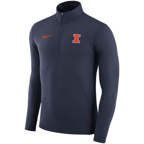 Men's Nike Navy Illinois Fighting Illini Element Performance Half-Zip Pullover Jacket