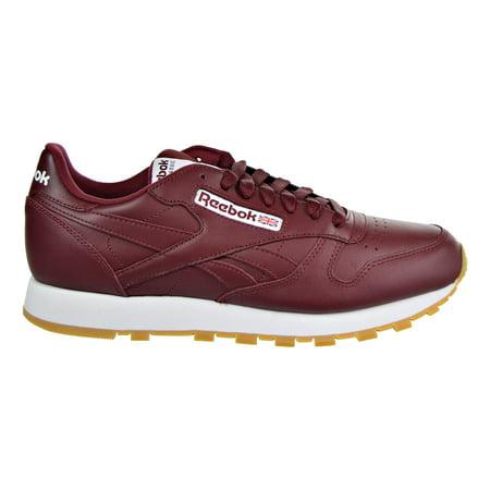 Reebok Classic Leather Men's Running Shoes Merlot/White/Gum cn1423 (9.5 D(M)