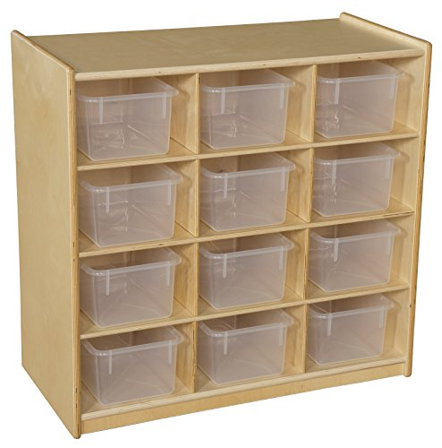 Wood Designs 16121 Cubby Storage with Translucent Trays
