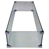Oakland Living Fire Table Rectangular Glass Wind Blocker