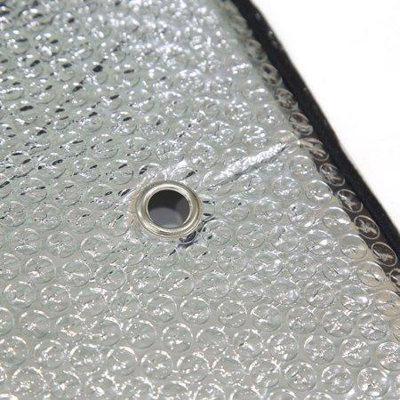 145 x 70cm Foldable Dual Side Windshield Sunshade Visor Sun UV Block Cover for Car Silver Tone - image 1 of 2