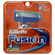 Gillette Fusion Pack of 4 Refill Razor Blade Cartridges