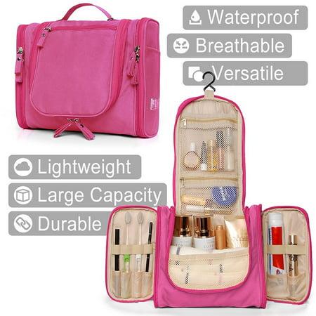 f4232bf9467e Hokeeper Hanging Toiletry Bag - Travel Cosmetic Makeup Bag for Women ...