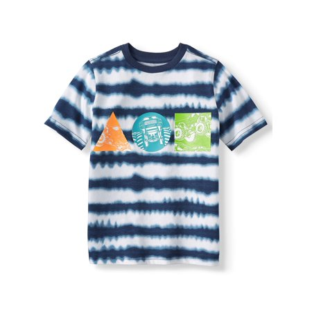 Short Sleeve Tie Dye Graphic Tee (Little Boys & Big Boys) (Little Kid Couple)