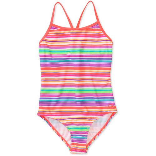 Op Girls Caribbean Stripe 1 Piece Swimsuit