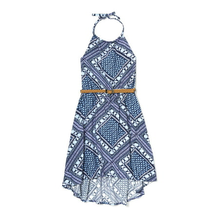 Bandana Print Halter Dress (Little Girls & Big Girls)