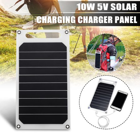 Portable Solar Panel Mobile Power Charger with Four Suckers 10W Solar Output 6V 1700mA Power Panel USB Charger Tablet Solar Charger Camping For iPhone X For Huawei Mate Pro20