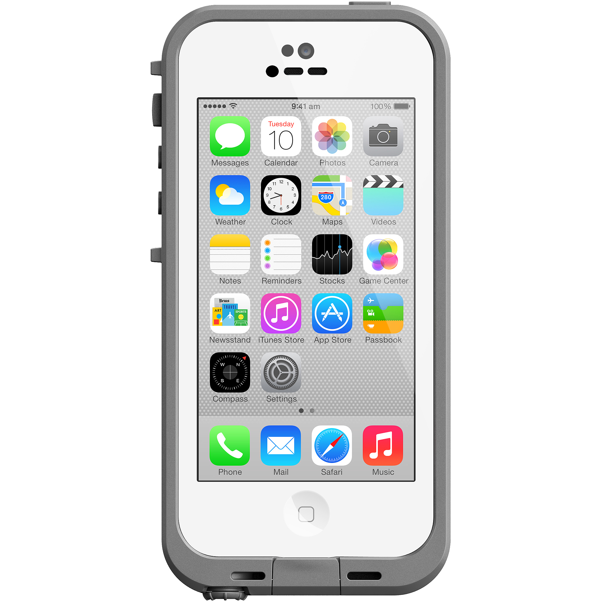 how tall is an iphone 5c lifeproof apple iphone 5c fre series white walmart 18530
