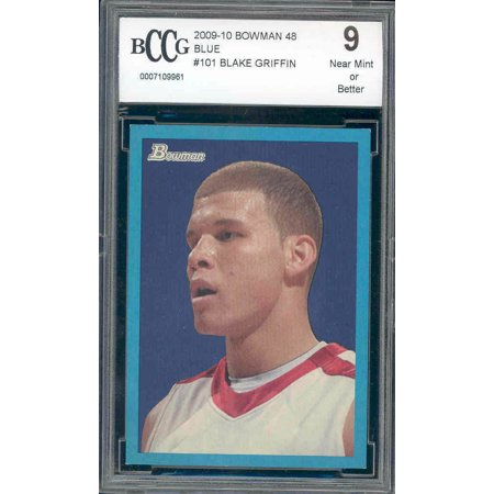 2009-10 bowman 48 blue #101 BLAKE GRIFFIN clippers rookie card BGS BCCG 9