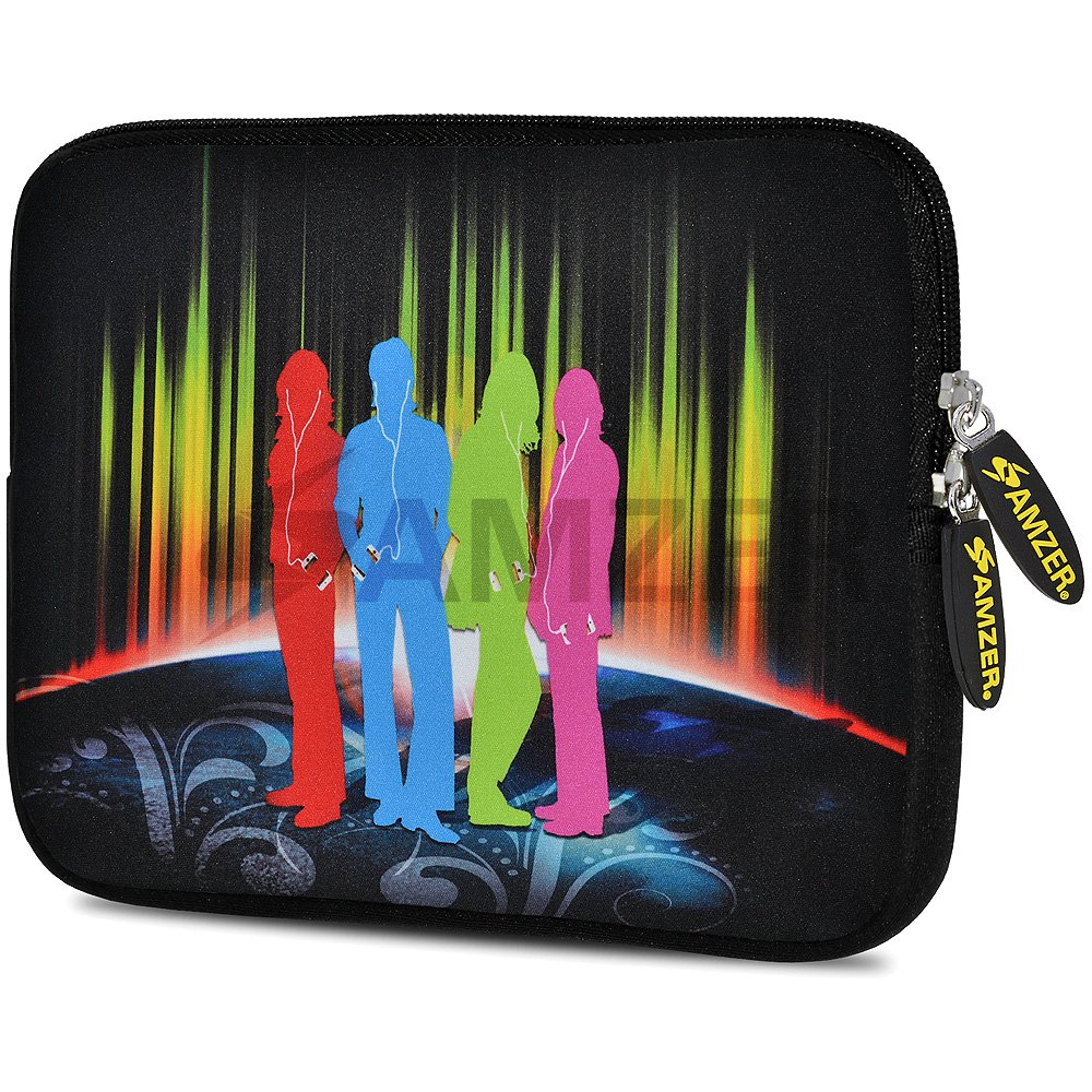Universal 10.5 Inch Soft Neoprene Designer Sleeve Case Pouch for 10.5 Inch Tablet, eBook, Netbook - Fab Four