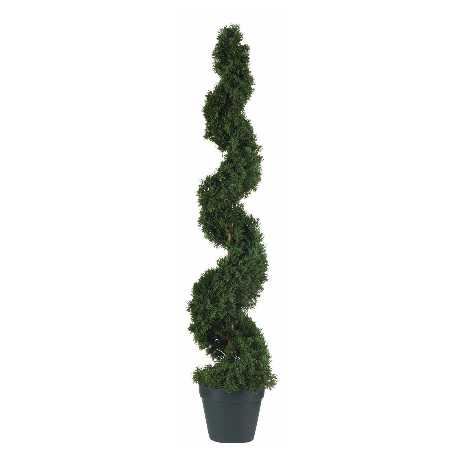 Nearly Natural 4 ft. Cedar Spiral Silk Tree