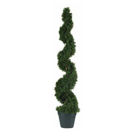 Nearly Natural 4 ft. Cedar Spiral Silk - Cedar Spiral Tree