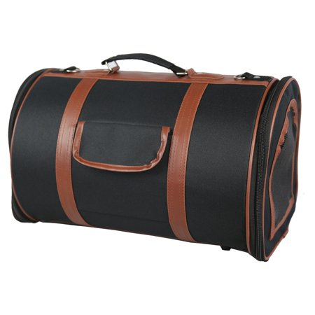 Pet Life Airline Approved Fashion Cylinder Posh Pet Carrier