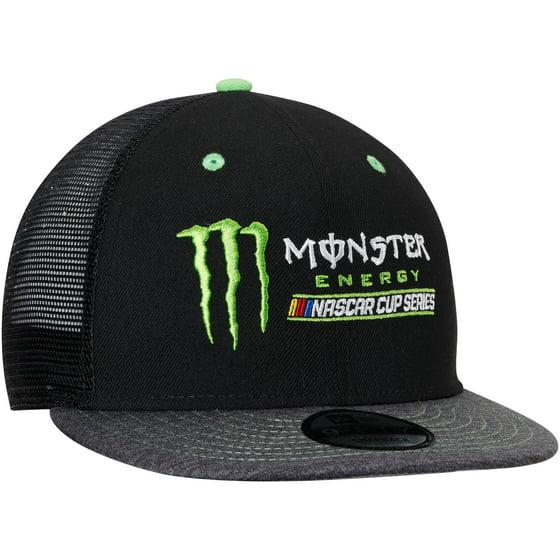 1323f473a61 New Era - New Era Monster Energy NASCAR Cup Series Trucker 9FIFTY  Adjustable Snapback Hat - Black Gray - OSFA - Walmart.com