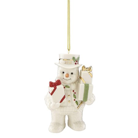 2018 Lenox Happy Holly Days Gifts Galore Snowman Christmas Ornament 877378 New - New Dad Christmas
