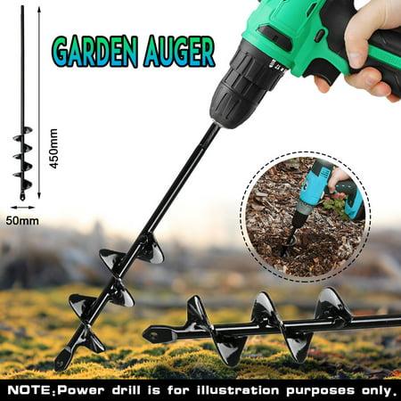 """9""""/18"""" Earth Garden Auger Drill Bit - Garden Auger Planter - Earth Auger Yard Garden Planting Planter Auger Hole Spiral Drill Bit  - image 3 de 4"""
