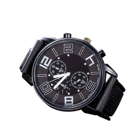 Fashion Men Luxury Stainless Steel Quartz Sport Silicone Band Dial Wrist Watch White