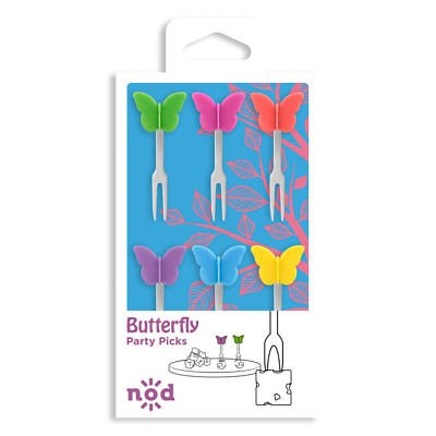 Nod Butterfly Party / Hors d'oeuvre Picks - Set of 6](Hors D'oeuvres For Halloween Party)