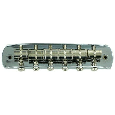 Mustang Guitar Bridge Assembly - Chrome (Japan), Chrome-plated bridge assembly includes six vintage-style single-grooved barrel saddles, six intonation.., By (Used Marlene Mcrae Barrel Saddle For Sale)