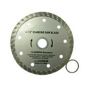 """4.5"""" Turbo Diamond Saw Blades Tile Marble Dry & Wet"""