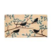 J&M Birds Vinyl Back Coir Indoor/Outdoor Doormat 18X30