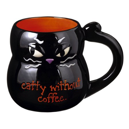 Grasslands Road Products Halloween (Halloween - Black Cat Mug - 469401, Ceramic By Grasslands Road Ship from)