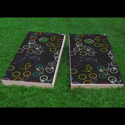 Custom Cornhole Boards Bikes Cornhole Game (Set of 2) by Custom Cornhole Boards
