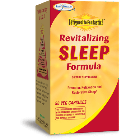 Enzymatic Therapy Revitalizing Sleep Formula, Vegetarian Capsules, 90 ea