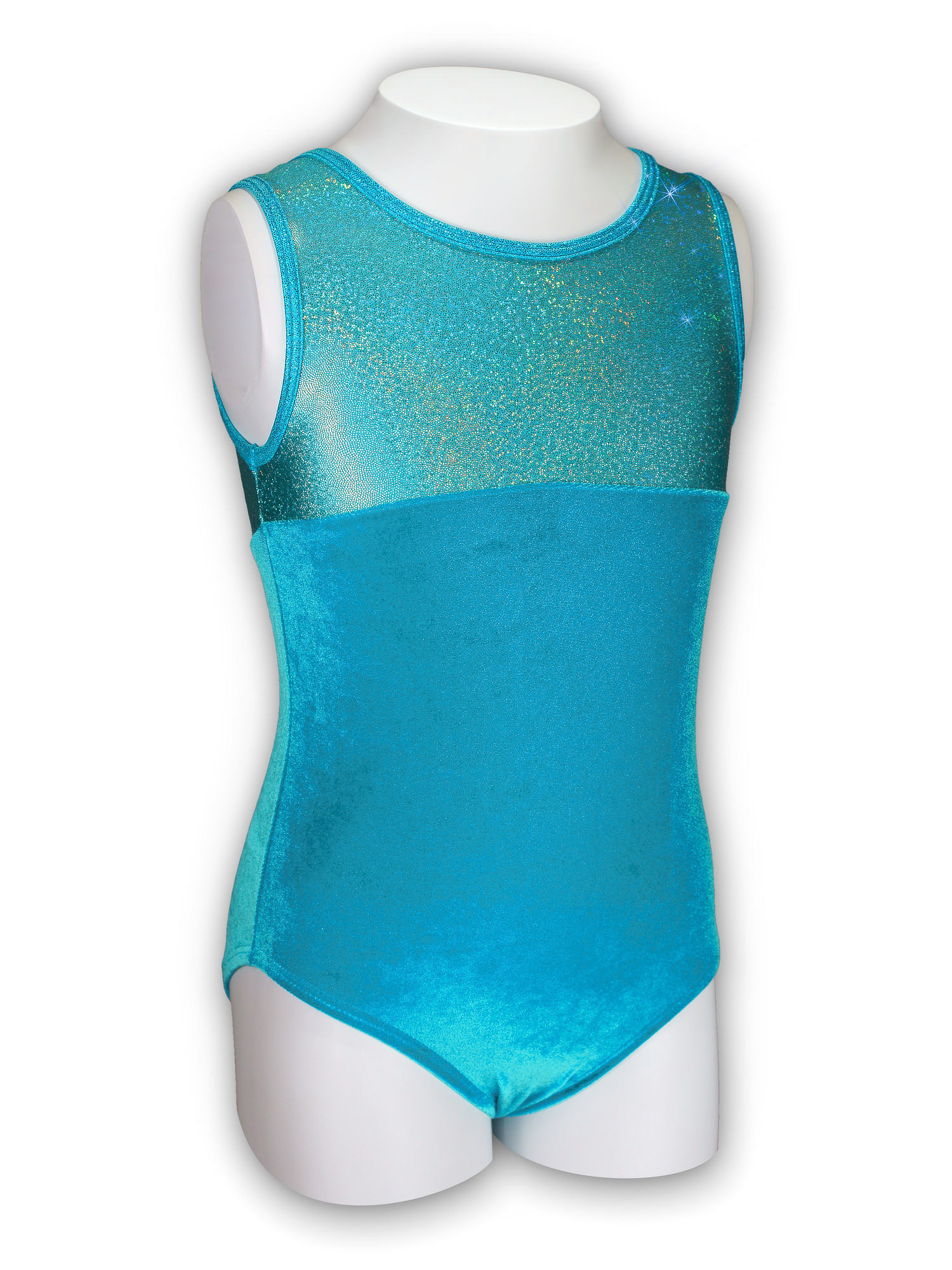 Gymnastics Leotard for Girls - Princess/Turquoise Velvet - Leap Gear by Pelle - 2 | Child XX-Small