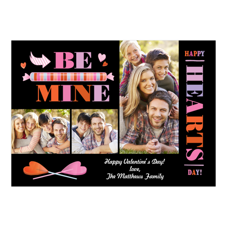 Personalized Valentines Day Greeting Card - Be Mine Valentine ()