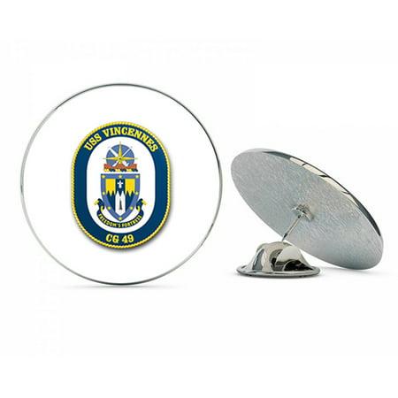 US Navy USS Vincennes CG-49  Military Veteran USA Pride Served Gift Metal 0.75