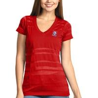 Philadelphia 76ers Antigua Women's Juke Burnout V-Neck T-Shirt - Red