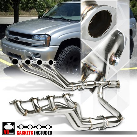 SS Long Tube Exhaust Header Manifold+Y-Pipe for 06-09 Chevy Trailblazer SS 6.0 07 08