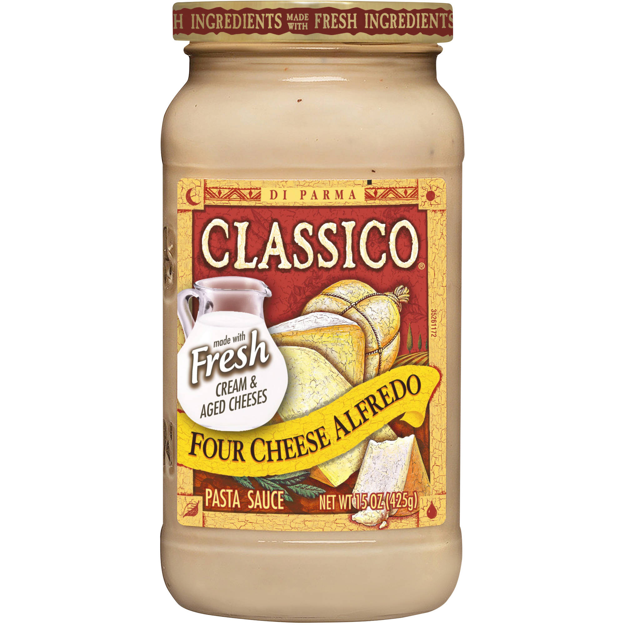 Classico Four Cheese Alfredo Pasta Sauce, 15 oz