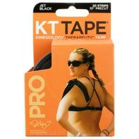 KT Tape Pro Precut Strips, Jet Black - 20 CT