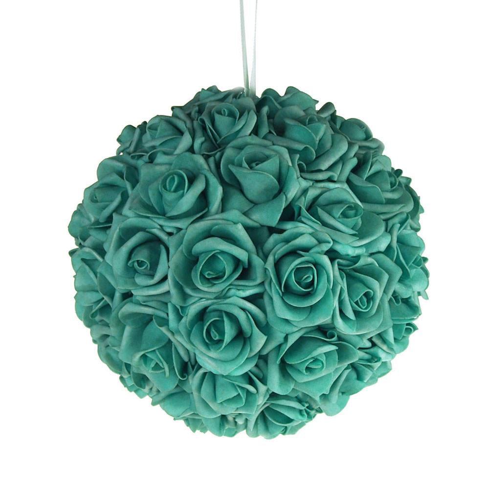 Soft Touch Flower Kissing Balls Wedding Centerpiece, 10-inch