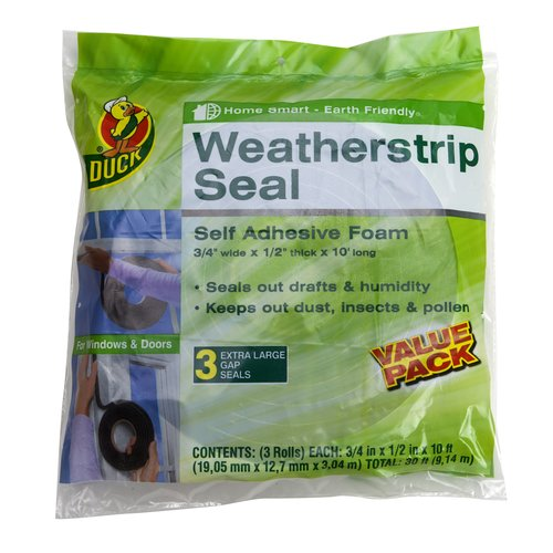 Duck Brand Weatherstrip Seal for Extra-Large Gaps, 3pk