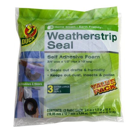 Duck Brand Weatherstrip Seal For Extra Large Gaps  3Pk