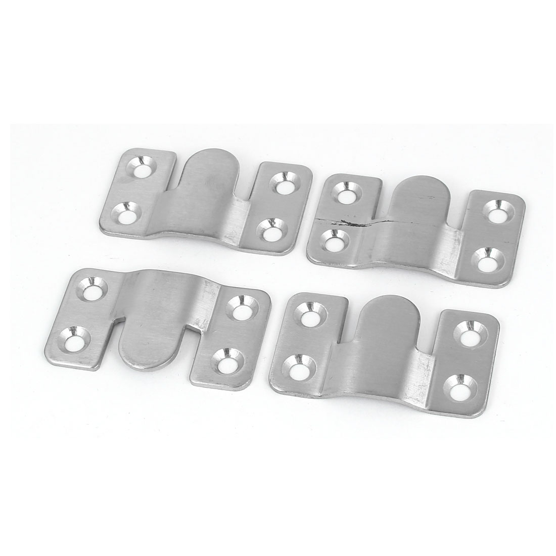 53mm x 30mm Iron Photo Frame Sofa Sectional Connector Bracket 4pcs - image 3 of 3