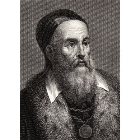 Titian C148890-1576 Italian Painter 19Th Century Print Engraved By John T Wedgwood From A Painting By The Artist PosterPrint