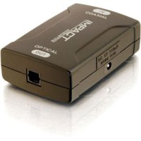C2G 40018 C2G Coaxial to TOSLINK Optical Digital Audio Converter - 1 x RCA Female Audio - 1 x Toslink Female Digital Audio - Black