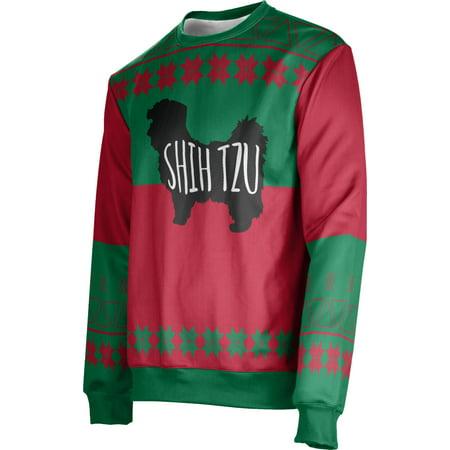 ProSphere Men's Shih Tzu (Green) Ugly Holiday Jingle Sweater (Apparel) ()