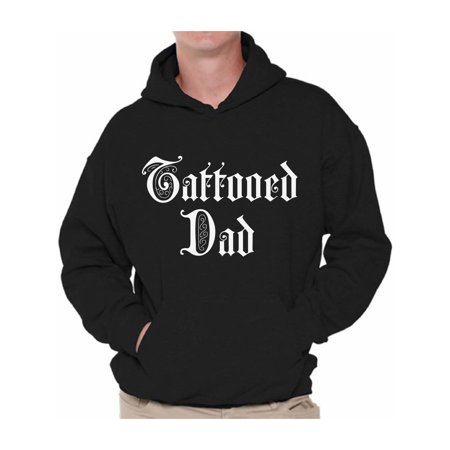Awkward Styles Tattooed Dad Hooded Sweatshirt Inked Dad Hoodie Tattoo Sweater with Sayings Cool Father Gifts for Tattoo Lovers Dad Tattoo Hoodie Sweater Dad Sweatshirt for Men Best Dad