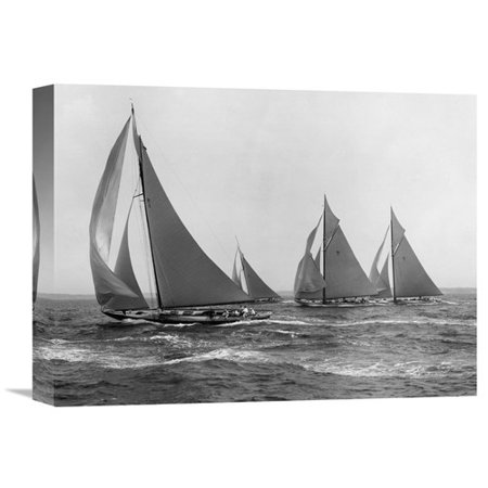 Global Gallery Sloops At Sail  1915 By Edwin Levick Photographic Print On Wrapped Canvas