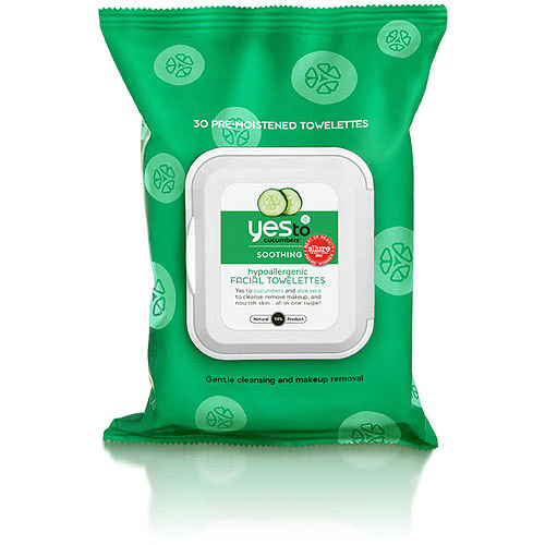 Yes To Cucumbers Hypoallergenic Facial Towelettes, 30ct